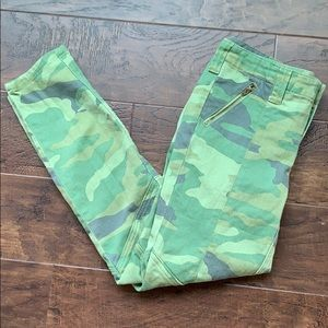 J.Crew Stretch Camo Pants, Size 4